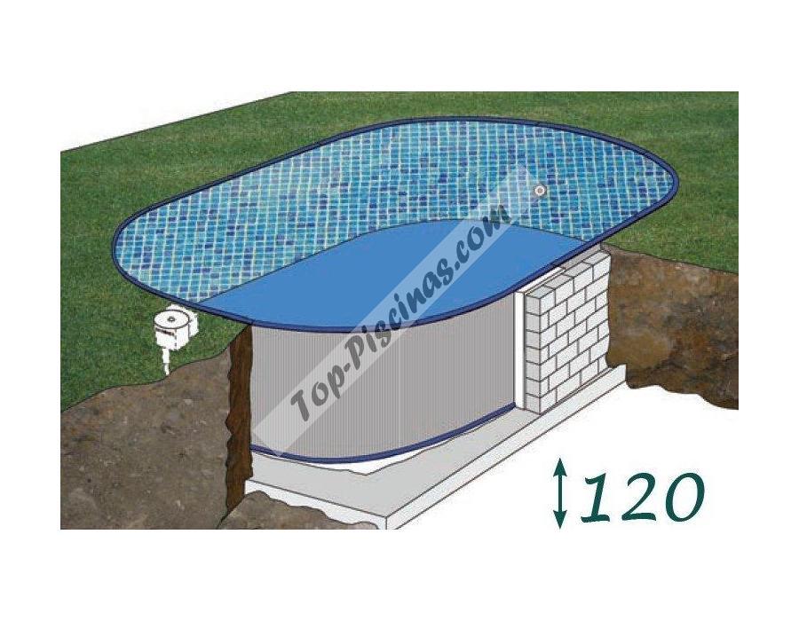 Piscinas enterradas gre sumatra 610x375x120 ref kpeov6127 for Piscina pequena desmontable con depuradora