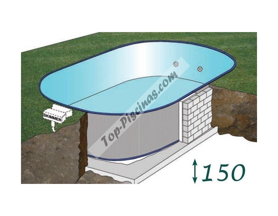 Piscinas enterradas gre madagascar 800x470x150 ref kpeov8159 for Piscinas desmontables de pvc