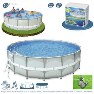 Piscina intex ultra frame 549x132 cm set depuradora arena ref 54926 - Depuradora de arena para piscina desmontable ...