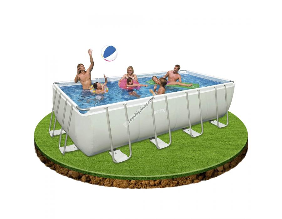 Piscina intex rectangular ultra frame 549x274x132 cm ref 54982 - Piscina intex 549x274x132 ...