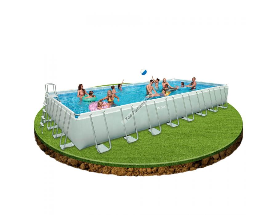 Piscina Intex Rectangular Ultra Frame 975x488x132 Cm Ref 54990
