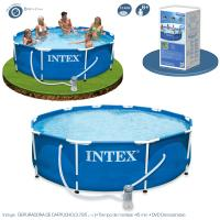Piscina Intex Metal Frame 457x91 cm Set Completo Ref 54942