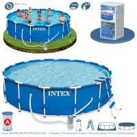 Piscina Intex Metal Frame 457x122 cm Set Completo Ref 54946