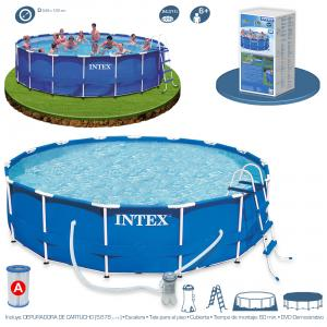 Piscina Intex Metal Frame 549x122 cm Set Completo Ref 54952