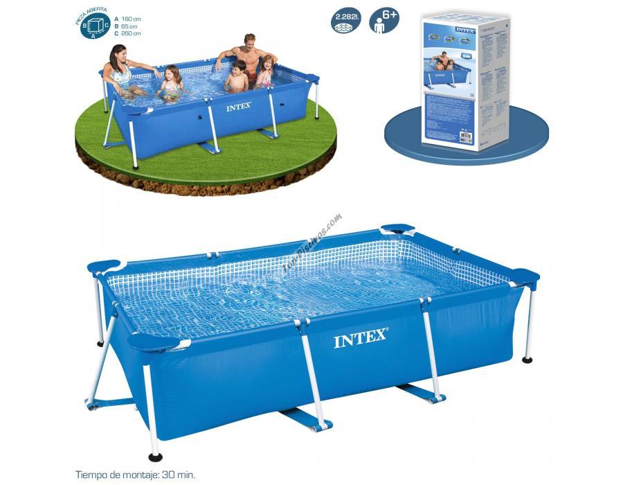 Piscina intex small frame familiar 260x160x65 cm ref 58980 for Repuestos piscinas intex