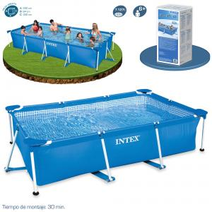 Piscina Intex Rectangular Frame 450x220x84 cm Ref 56982