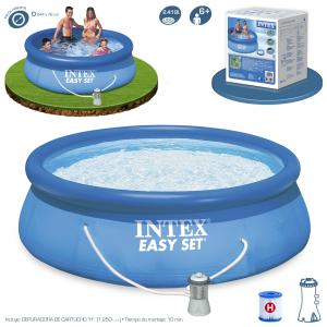 Piscina Intex Easy Set 244x76 cm con Depuradora Ref 56006