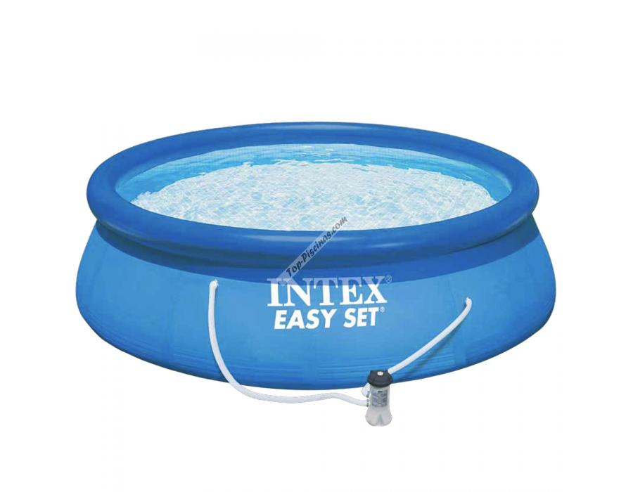 Piscina intex easy set 305x76 cm con depuradora ref 56922 for Piscinas rectangulares desmontables con depuradora