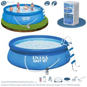 Piscina Intex Easy Set 457x107 cm con Depuradora y Escalera Ref 56409