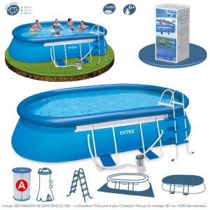 Piscina Intex Oval Frame 549x305x107 cm Set Completo Ref 54932