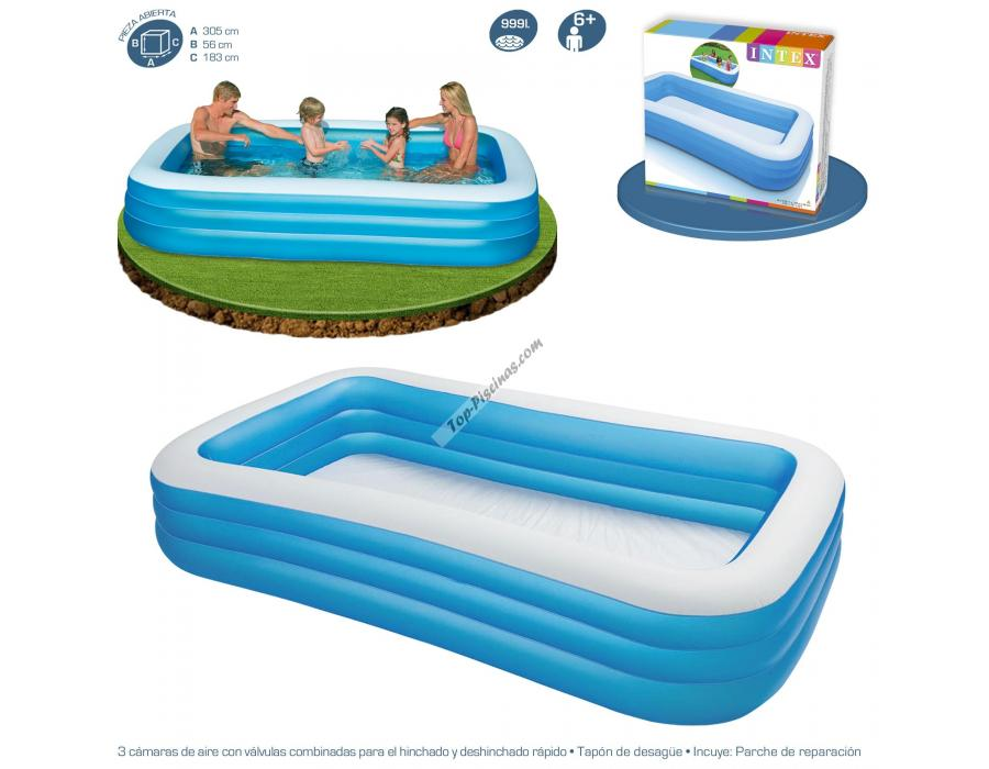 Piscina intex hinchable 305x183x56 cm ref 58484 for Piscinas intex precios