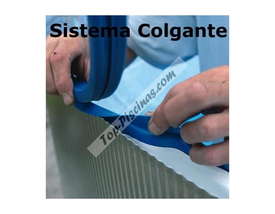 Liner azul para piscinas desmontables circulares de for Precio de liner para piscinas