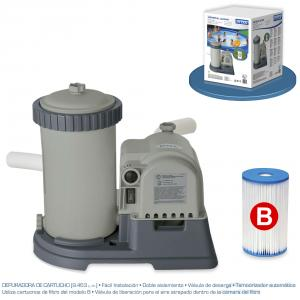 Depuradora de Cartucho Intex Krystal Clear Tm 9463 L/H Ref 56634