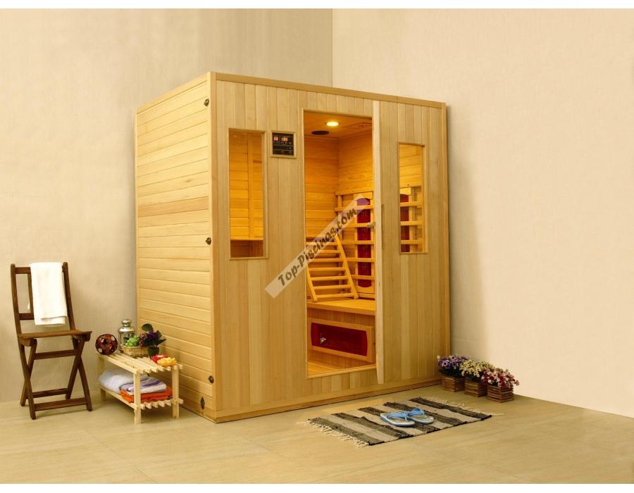 Sauna infrarrojos stockholm para 4 personas kokido ref - Madera para sauna ...