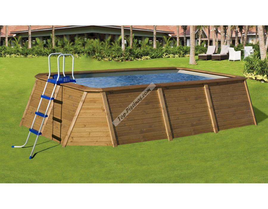 piscina kokido premium madera 345x255x110 ref pj005
