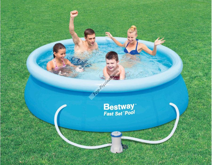 Piscina bestway fast set 244x66 cm ref 57008 for Piscinas de pvc baratas