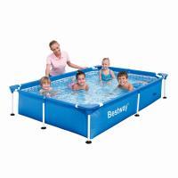 Piscina Infantil Rectangular Bestway Splash Frame 229x160x43 ref 56040