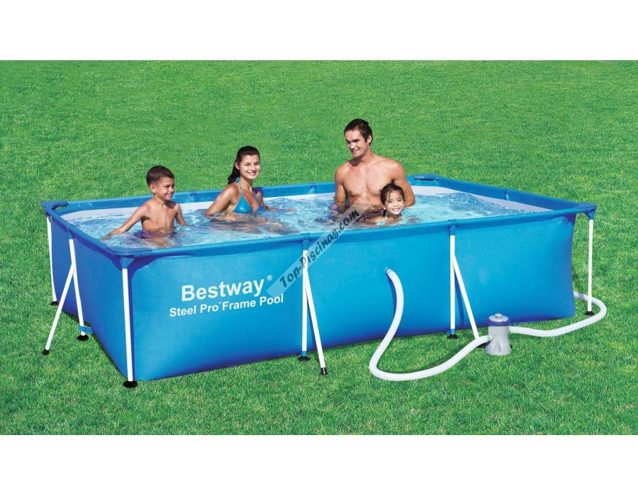 Piscina infantil rectangular bestway splash frame for Piscinas de pvc precios