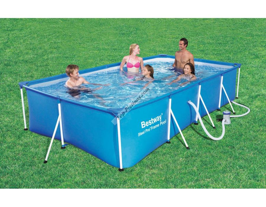 Piscina infantil rectangular bestway splash frame for Piscina desmontable rectangular