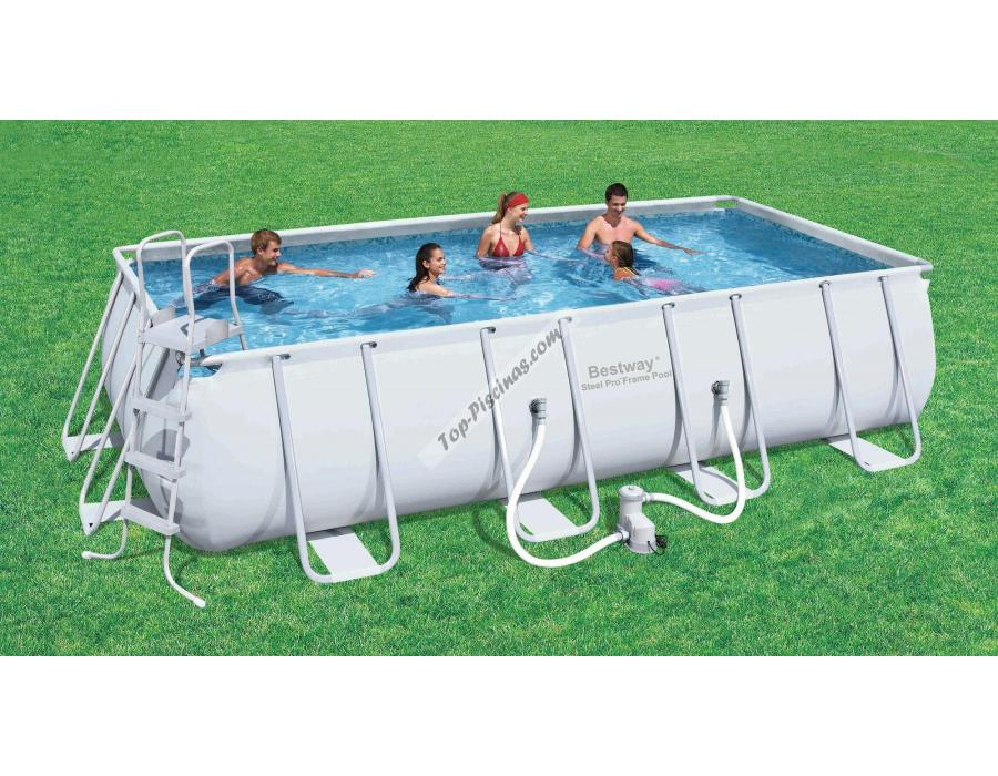 Piscina bestway rectangular frame 549x274x122 ref 56223 56256 for Piscina desmontable rectangular