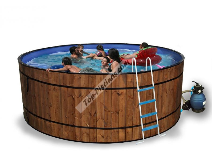 Piscinas de madera toi barrica 460x120 8853 for Piscines demontables