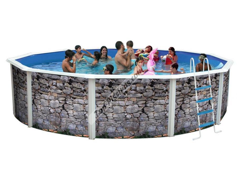 Piscinas toi decoradas silver luna 350x120 ref n100 for Toi piscinas desmontables